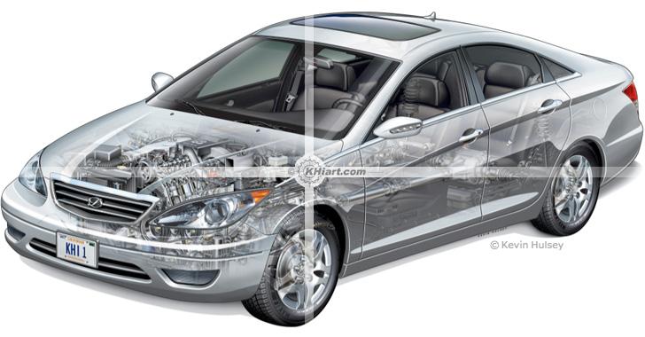 Automotive illustration by KHI