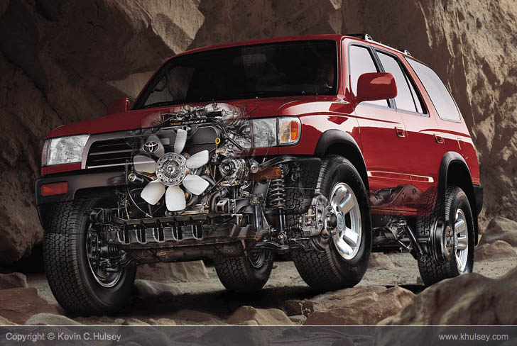 Toyota 4Runner ghosted illustration