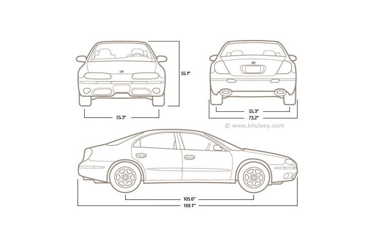 automotive line drawings