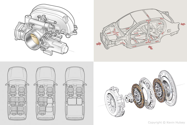 car infographics diagrams