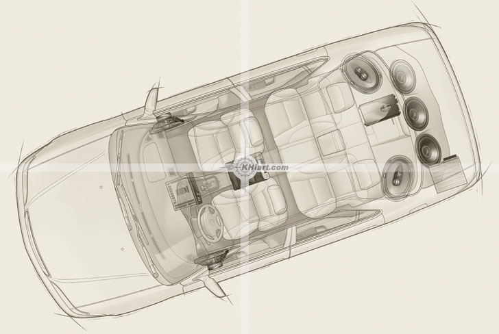 Line Drawing Car : Automotive line drawings