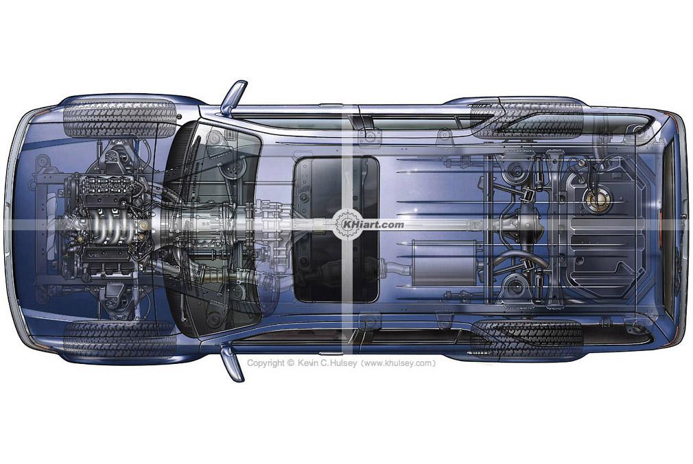 Stock Automotive Illustrations and Cutaways