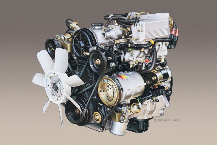 car engine cutaway stock illustrations