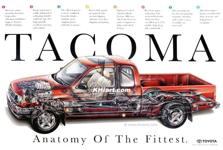 Tacoma 4x4 Pickup Truck Poster