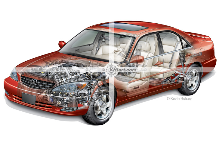 Automotive Illustration Cars And Transportation Artwork