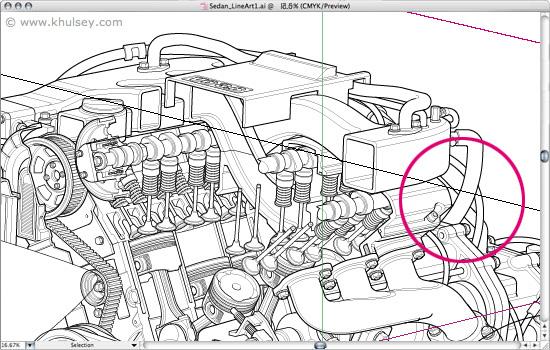 Automotive illustration tutorial: How to draw a car cutaway.