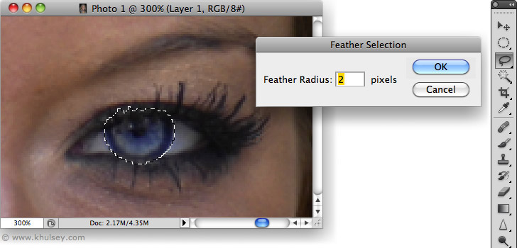 Changing eye color with Photoshop
