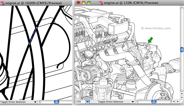 Vector illustration tutorial on drawing hoses and wires.