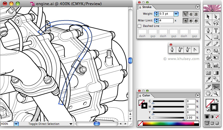 Line Art Tutorial Illustrator : Vector illustration tutorial on drawing hoses and wires