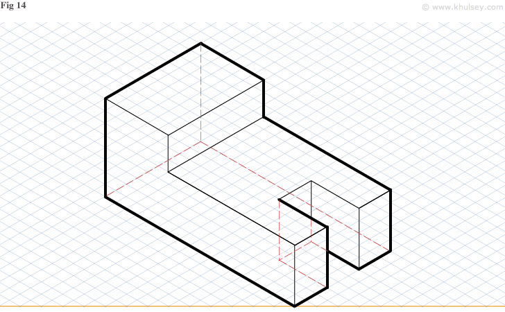 on the board draw me the left multiview projection of this object see    Engineering Graphics Isometric Projection