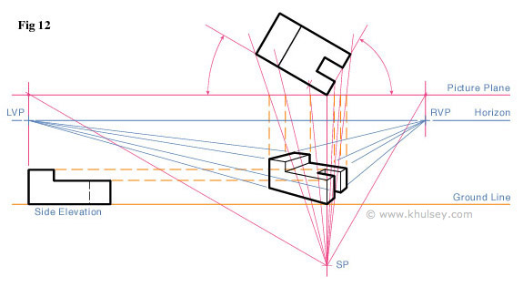 Final Step In 2 Point Perspective Grid