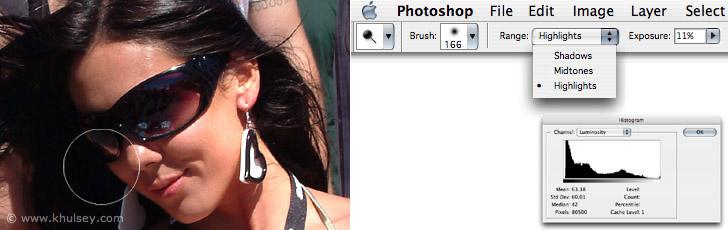 Photoshop Burn Dodge Tool Tutorial