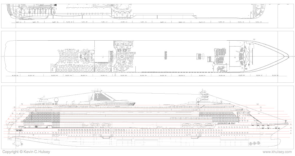Ship vector art ship plan elevation vector drawings malvernweather Gallery
