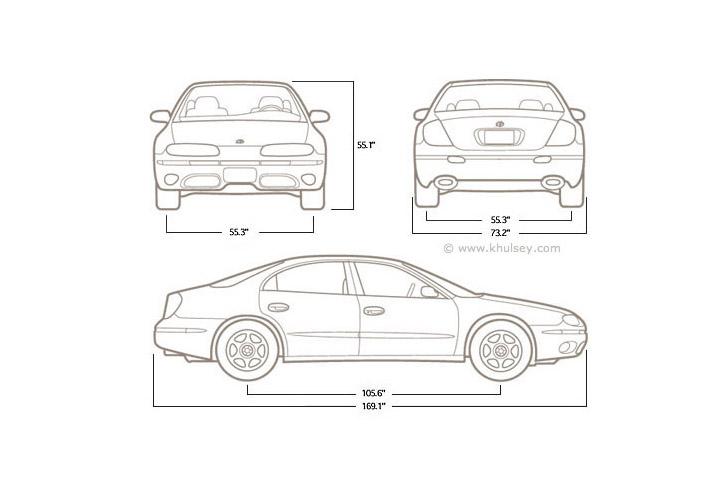Car Dimension Drawings
